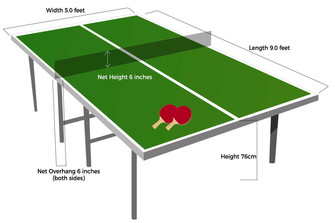 Ping Pong Table Dimensions Room Size Requirements Ping Pong On